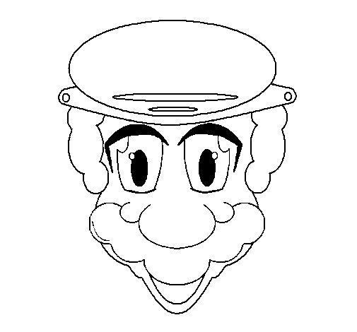 Dibujo de Cara de abuelo para Colorear