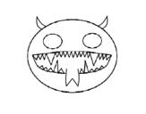 Dibujo de Cara de demonio