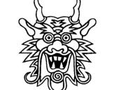 Dibujo de Cara de dragón para colorear