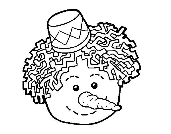 Dibujo de Cara de muñeco de nieve para Colorear