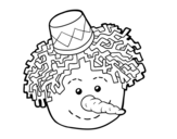 Dibujo de Cara de muñeco de nieve