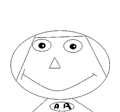 Dibujo de Cara de niño para Colorear