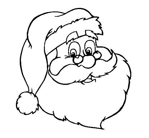 Dibujo de Cara de pap noel para Colorear  Dibujosnet