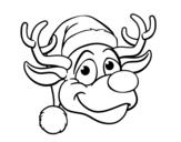 Dibujo de Cara de reno Rudolph para colorear