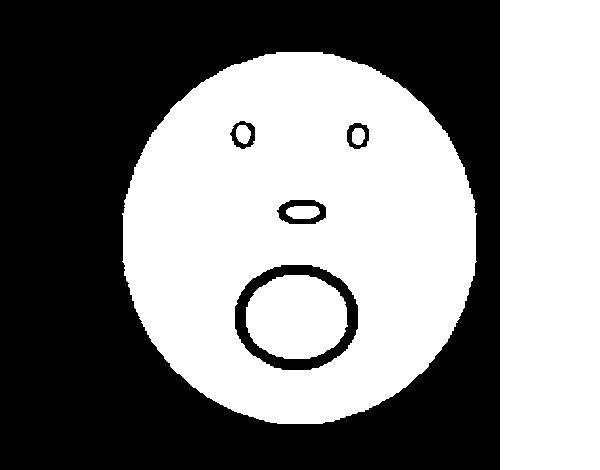 Dibujo de Cara de susto para Colorear