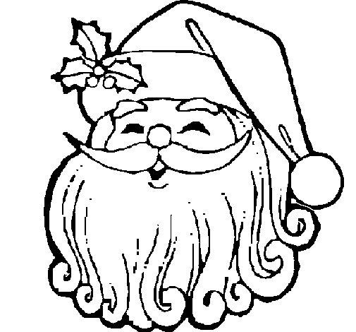 Dibujo de Cara Noel para Colorear