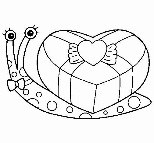 Dibujo de Caracol 2 para Colorear