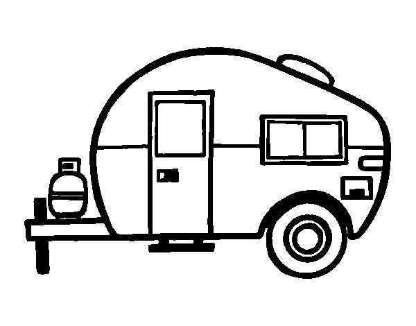 Dibujo de Caravana moderna para Colorear