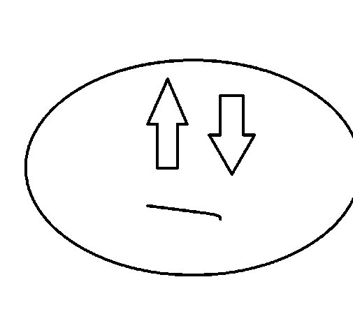 Dibujo de Carita con flechas para Colorear