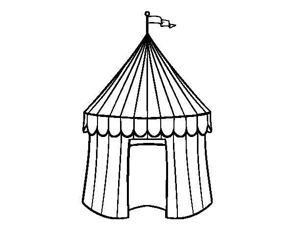 Dibujo de Carpa de circo para Colorear