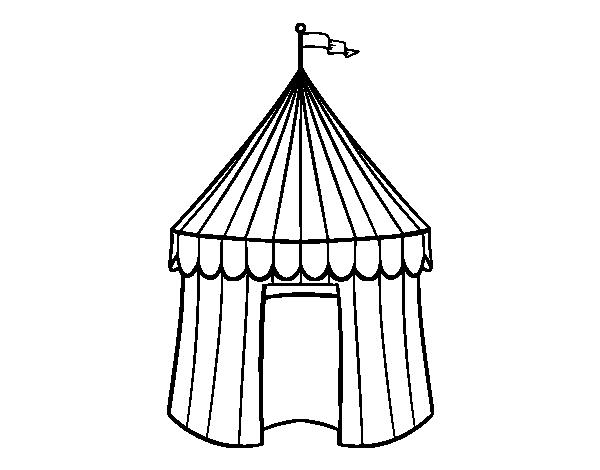 Dibujo de Carpa de circo para Colorear  Dibujosnet