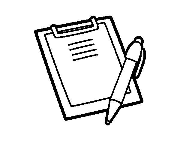 Libreta De Dibujo Con Dibujos Infant: Dibujo De Carpeta Portanotas Para Colorear