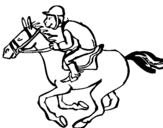 Dibujo de Carrera de caballos para colorear