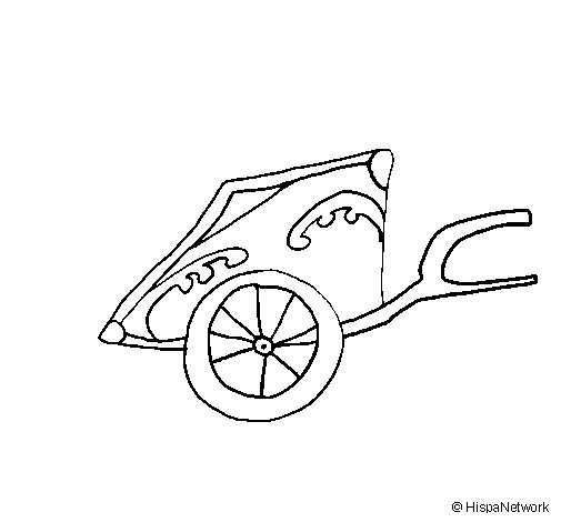 Dibujo de Carro romano para Colorear