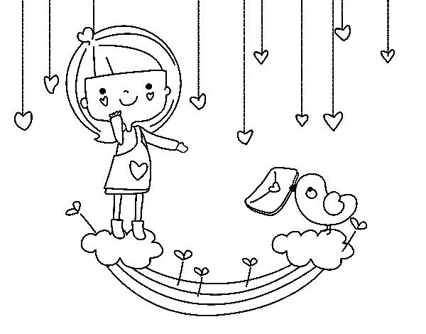 Dibujo De Carta De San Valentín Para Colorear