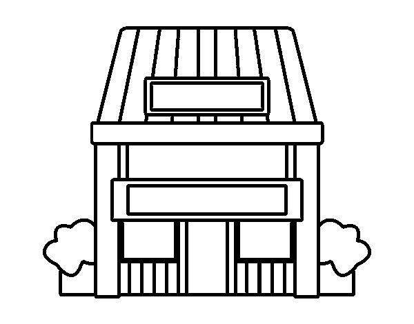 Dibujo de casa con jard n para colorear for Jardin dibujo