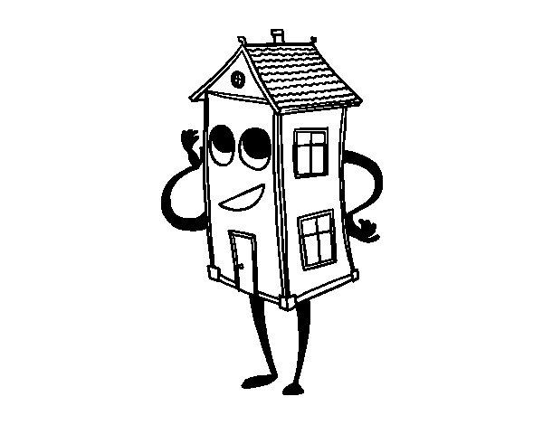 Dibujo de Casa coqueta para Colorear