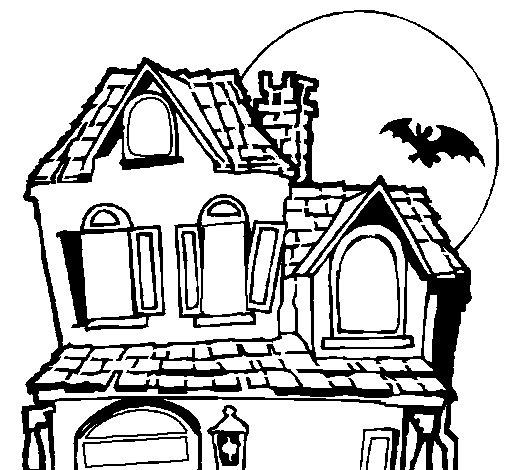 Dibujo de Casa del misterio para Colorear