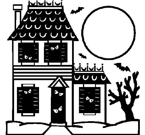 Dibujo de Casa del terror para Colorear