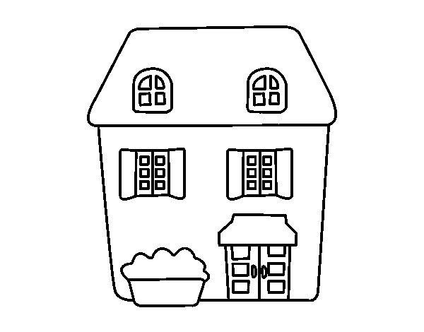 Para Colorear Casa. Casas Y Objetos De La Casa Para Colorear ...