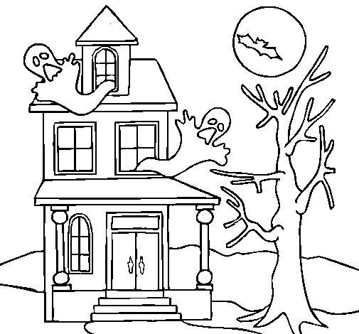 Dibujo de Casa fantansma para Colorear