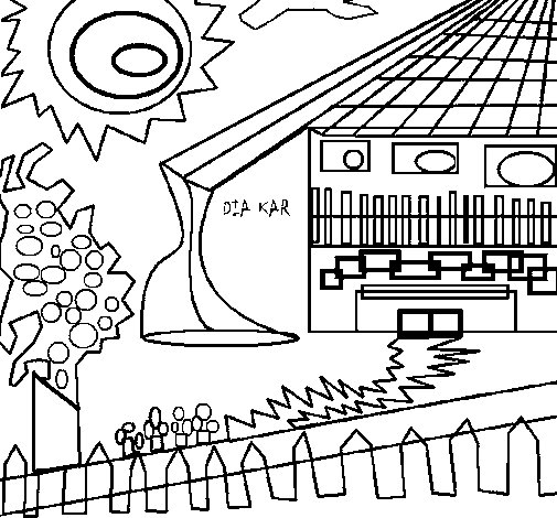 Dibujo de Casa japonesa 1 para Colorear