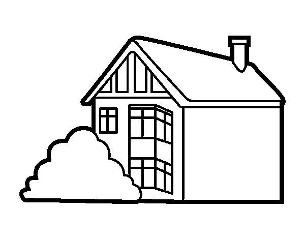 Dibujo de Casa moderna para Colorear  Dibujosnet