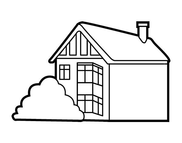 Dibujo de casa moderna para colorear Presupuesto para pintar una casa