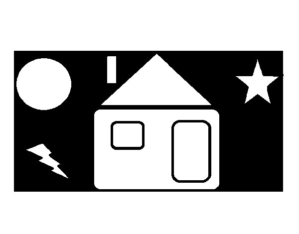 Dibujo de Casa rayo para Colorear
