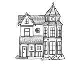 Dibujo de Casa señorial clásica para colorear