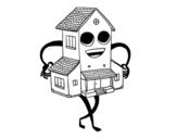 Dibujo de Casa simpática para colorear