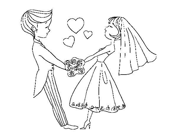 Dibujo de Casados y enamorados para Colorear  Dibujosnet