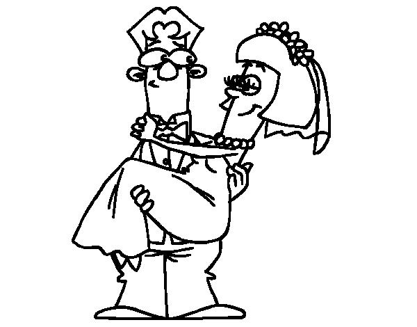 Dibujo de Casados para Colorear