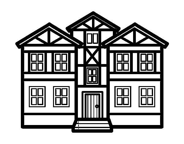 Dibujo de casas para colorear - Imagenes de casas para dibujar ...
