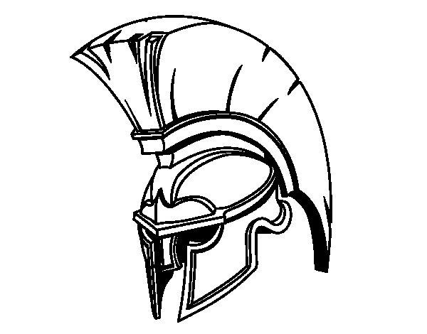 Dibujo de Casco romano de guerrero para Colorear