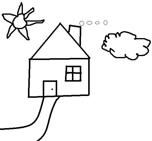 Dibujo de Casita para Colorear