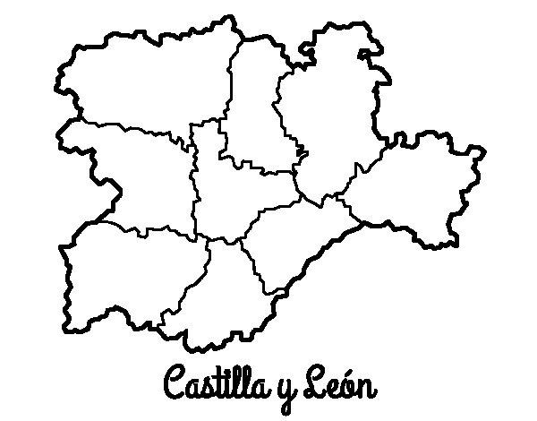 Dibujo de Castilla y Len para Colorear  Dibujosnet