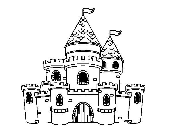 Dibujo de Castillo de princesas para Colorear - Dibujos.net