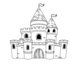 Dibujo de Castillo de princesas para colorear