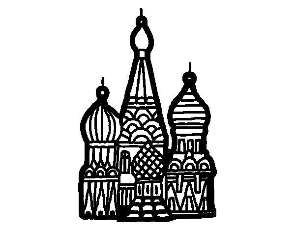 Dibujo de Catedral de San Basilio para Colorear