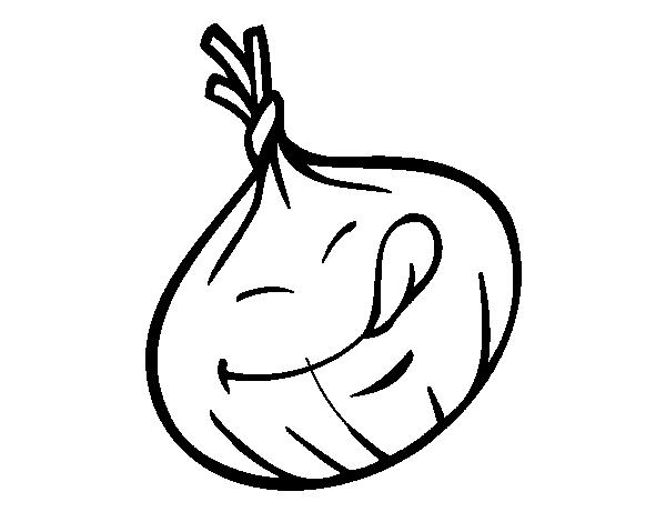 Dibujo de Cebolla sonriente para Colorear  Dibujosnet
