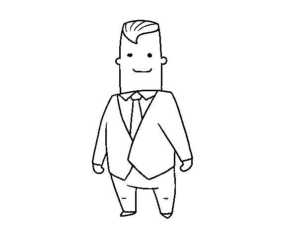 Dibujo de CEO para Colorear