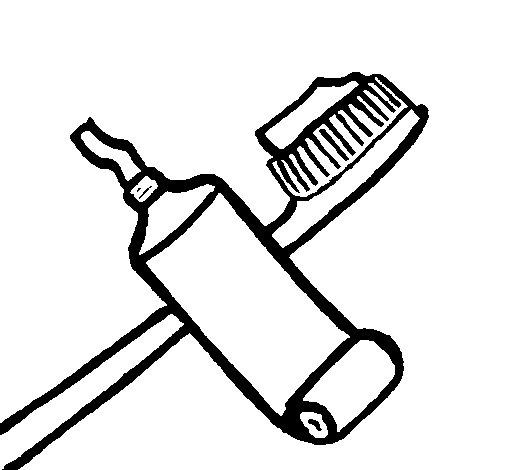 Dibujo de Cepillo de dientes 2 para Colorear