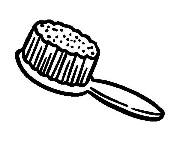 Dibujo de Cepillo del pelo para Colorear
