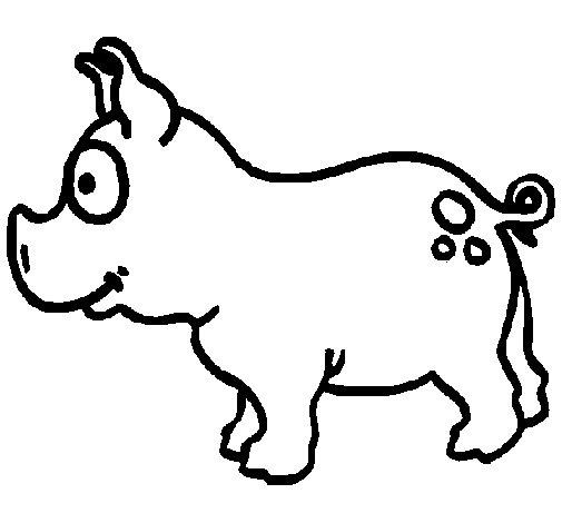 Dibujo de Cerdo para Colorear