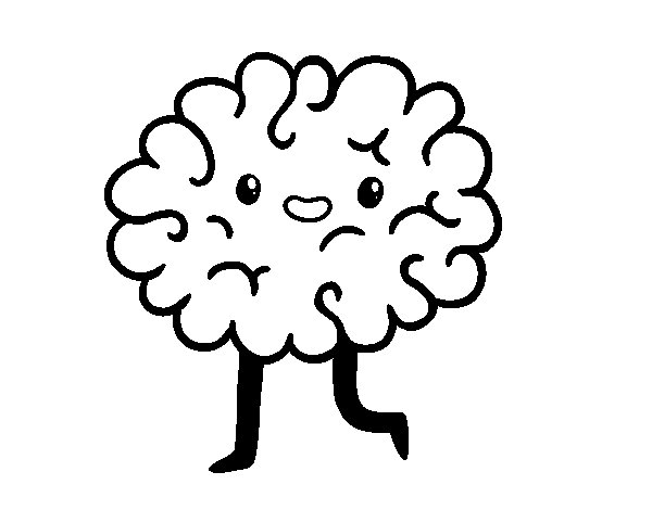 Dibujo de Cerebro kawaii para Colorear  Dibujosnet