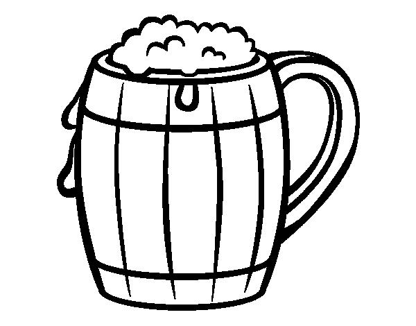 Dibujo de cerveza para colorear for Disegno vaso da colorare
