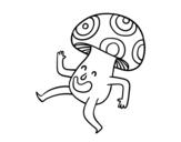 Dibujo de Champiñón feliz para colorear