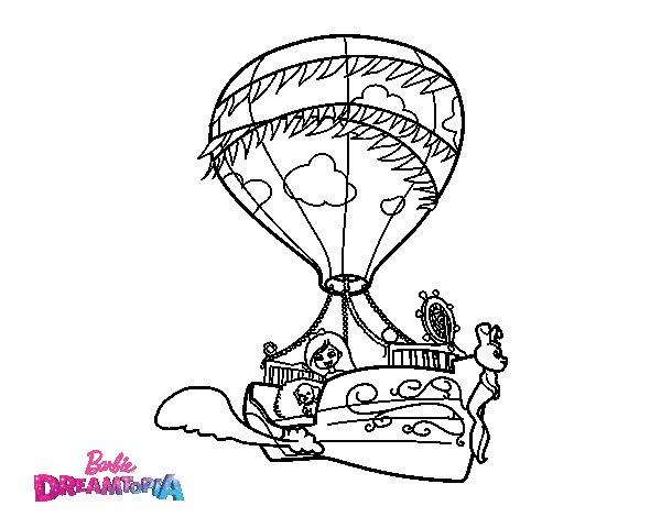 Dibujo de Chelsea y Honey en el barco volador para Colorear