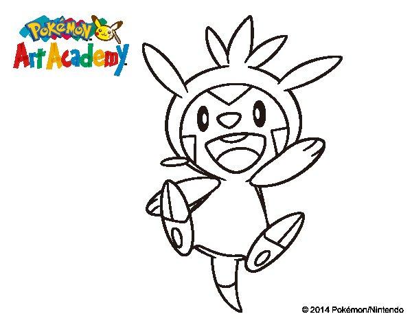 150 Dibujos De Pokemon Para Colorear: Dibujo De Chespin Para Colorear
